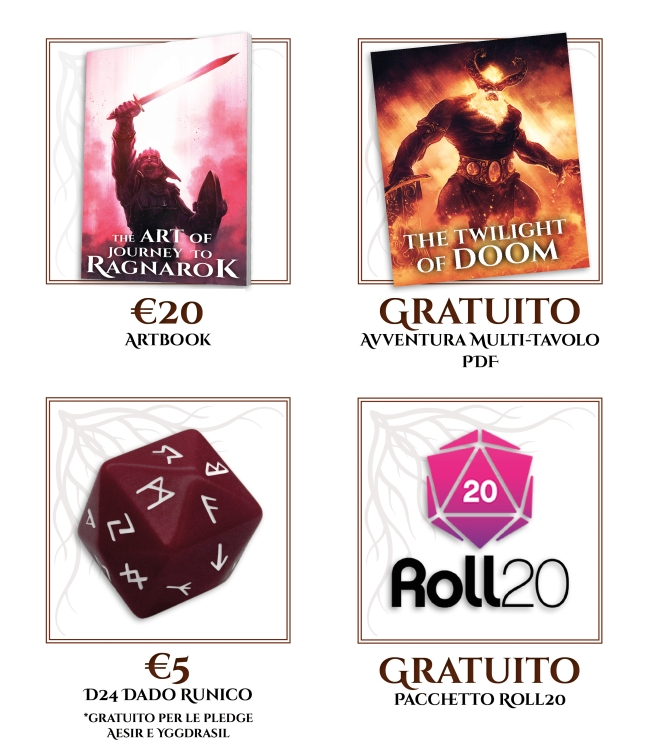 Journey To Ragnarok Tabella Artbook+Quest Multi-tavolo+D24+Roll20