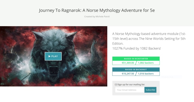 Journey To Ragnarok BackerKit
